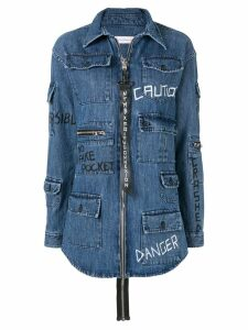 Faith Connexion Danger denim shirt - Blue