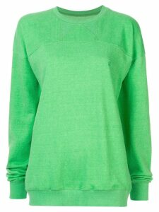 pushBUTTON plain sweatshirt - Green