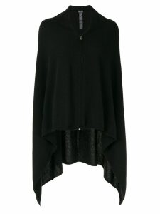 Giorgio Armani zipped cashmere poncho - Black