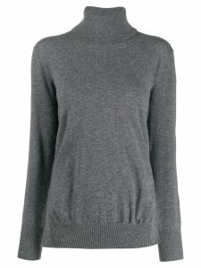 Zanone turtle neck plain jumper - Grey