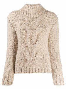 Snobby Sheep cashmere cable knit jumper - NEUTRALS