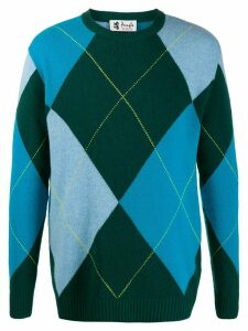 Pringle of Scotland Reissued Argyle knitted jumper - Green