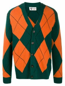 Pringle of Scotland Reissued argyle knit cardigan - Green