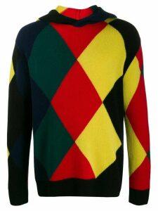 Pringle of Scotland Reissued diamond knit hoodie - Black