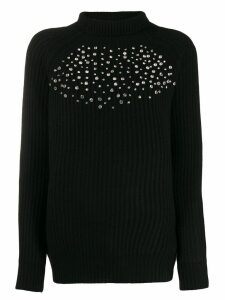 be blumarine crystal decorated jumper - Black