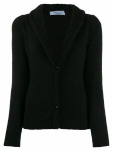 Blumarine Maglia fleece trim cardigan - Black