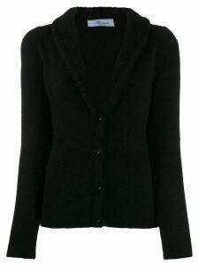 Blumarine Maglia fleece trim cardigan - Black