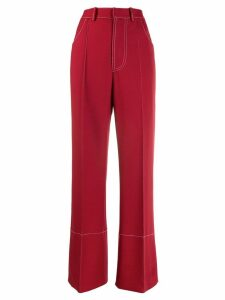 Marni high-waist wide-leg trousers - Red