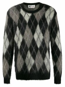 Pringle of Scotland Reissued Argyle knit jumper - Black