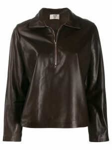 Maryam Nassir Zadeh Canoe leather sweatshirt - Brown