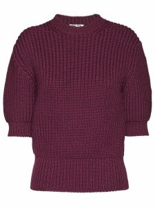 Miu Miu three-quarter sleeved jumper - Red