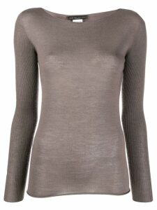Fabiana Filippi fine knit top - Grey