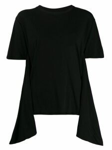 Unravel Project asymmetric detail T-shirt - Black