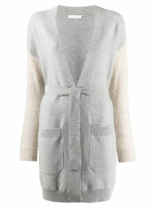 Fabiana Filippi contrast fitted cardigan - Grey