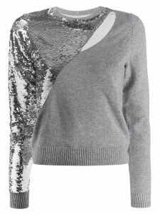 RtA sequin-embellished jumper - Grey