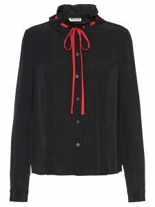 Miu Miu drawstring blouse - Black