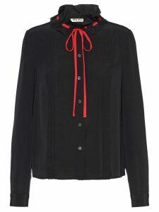 Miu Miu drawstring blouse - Black