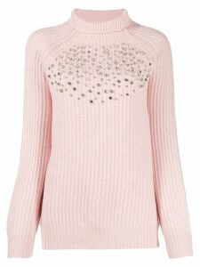 be blumarine crystal decorated jumper - PINK