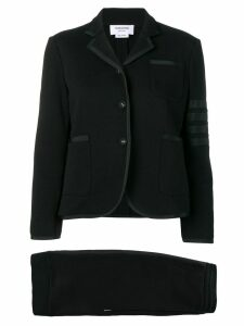 Thom Browne 4-Bar Loopback Jersey Suit - Black