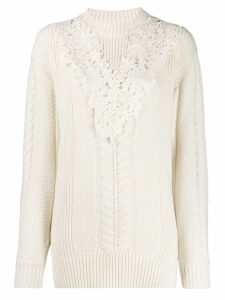 See By Chloé lace insert jumper - White