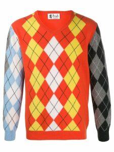 Pringle of Scotland Reissued patchwork Argyle jumper - ORANGE