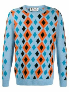 Pringle of Scotland Reissued abstract diamond jumper - Blue
