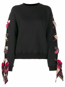 Alanui lace-up sweatshirt - Black