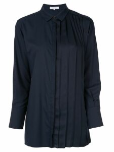 Loveless pleated poplin shirt - Blue