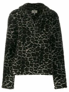 Maryam Nassir Zadeh faux fur zip-up sweater - Black