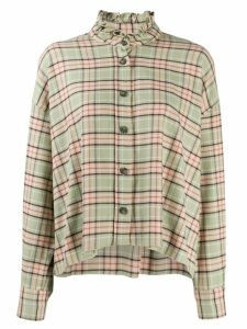 Isabel Marant Étoile checked long sleeve shirt - Green
