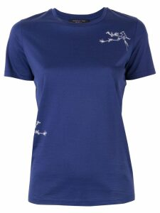 Shanghai Tang bird embroidered T-shirt - Blue