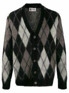 Pringle of Scotland argyle mohair cardigan - Black