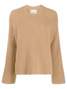 Laneus oversized knitted sweater - Brown