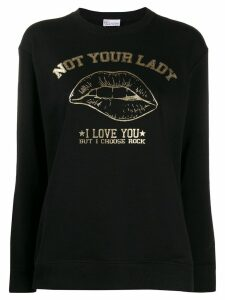 Red Valentino Not Your Lady sweatshirt - Black