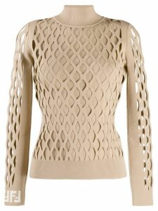 Fendi lattice design jumper - Brown