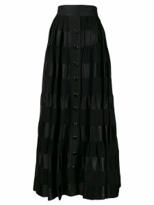 Zimmermann Sabotage ribbon stripe maxi skirt - Black