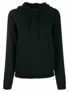 Polo Ralph Lauren beaded logo hoodie - Black