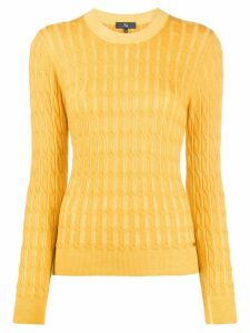 Fay cable-knit slim-fit jumper - Yellow