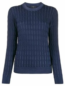 Fay cable-knit slim-fit jumper - Blue