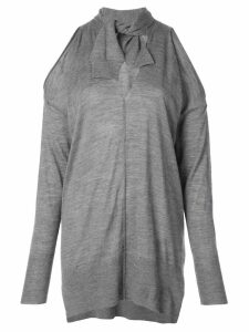 Nude cold shoulder sweatshirt - Grey