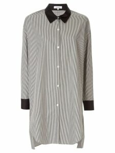 Loveless oversized striped shirt - White