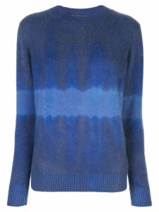 The Elder Statesman tie-dye long sleeve sweater - Blue