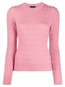 Fay cable-knit slim-fit jumper - Pink