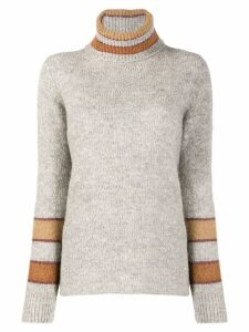 Eleventy panelled turtleneck sweater - Grey