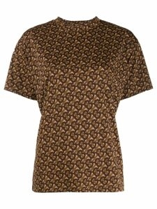 Burberry monogram print T-shirt - Brown