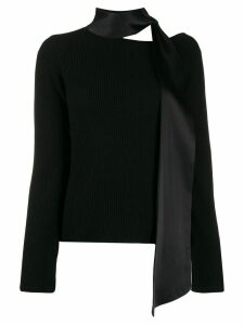 RtA scarf neck sweater - Black