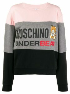 Moschino Underbear striped sweatshirt - PINK