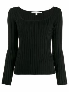 Veronica Beard square neck top - Black