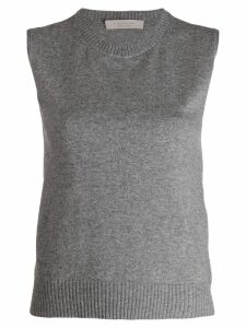 D.Exterior knitted vest top - Grey