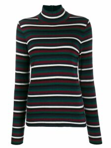 Tory Burch stripe print jumper - Green
